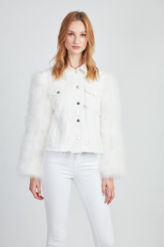 The Secret Lover Denim + Fifi Jacket - White
