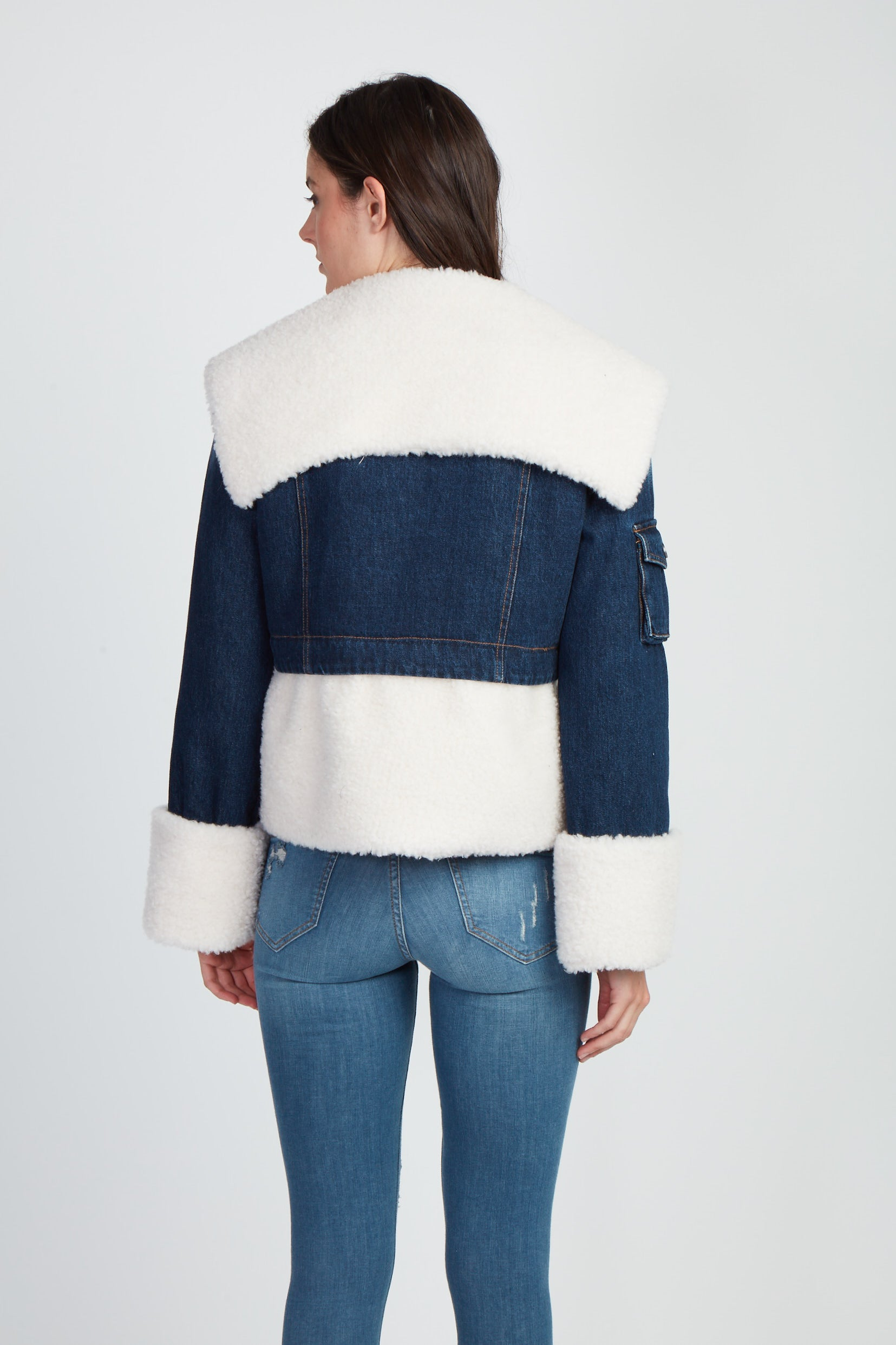 The You Can't Deny Me Denim & Faux Sherpa Jacket