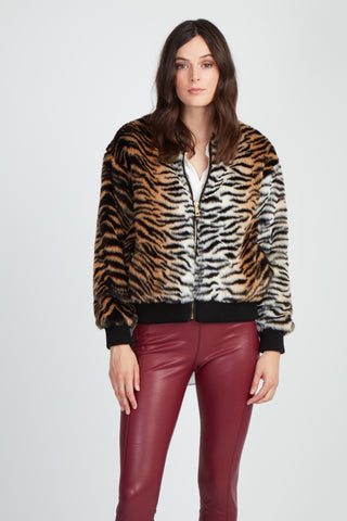 The Text Me Faux Tiger Jacket