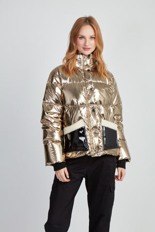 The Faux Keeps Puffer - Gold