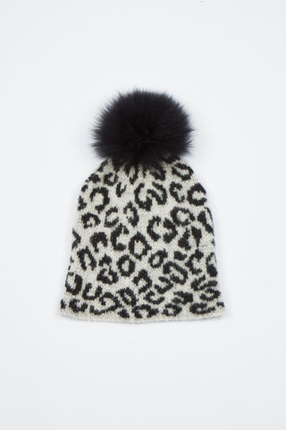 The Lunar Leopard Hat - Grey/Black Animal