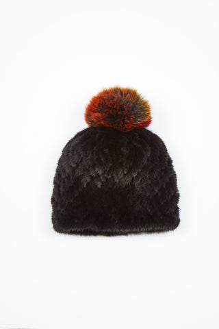 The Supermoon Mink Hat - Black/Multi