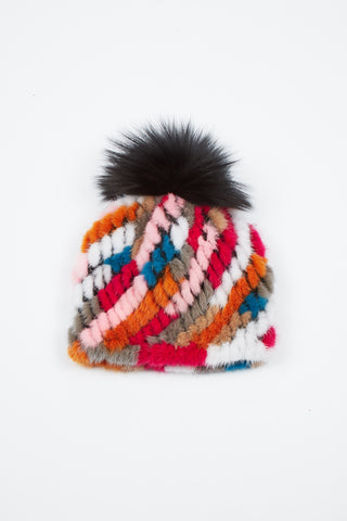 The Supermoon Mink Hat - Multi/Black