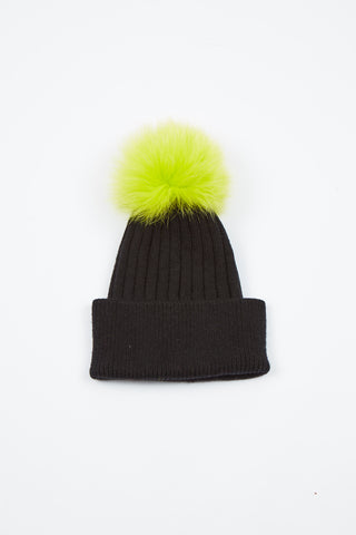 The North Star Hat - Black/Neon Yellow