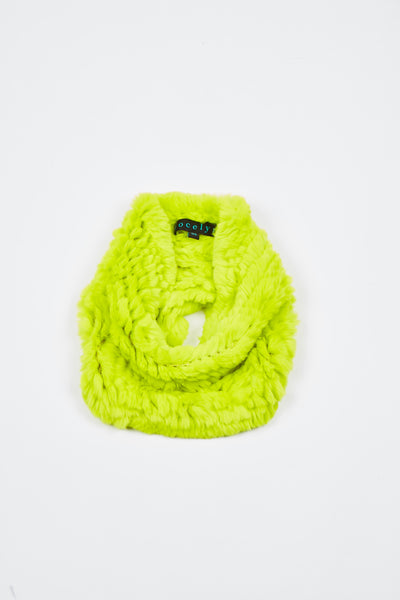 The Galaxy Cowl + Mitten Gift Set - Neon Yellow