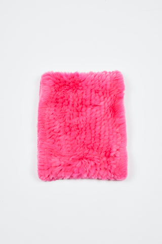 The Galaxy Cowl + Mitten Gift Set - Neon Pink