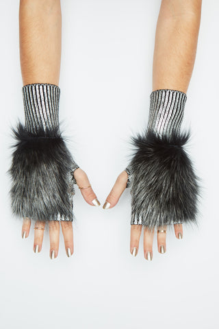 The Meteor Shower Mittens - Silver