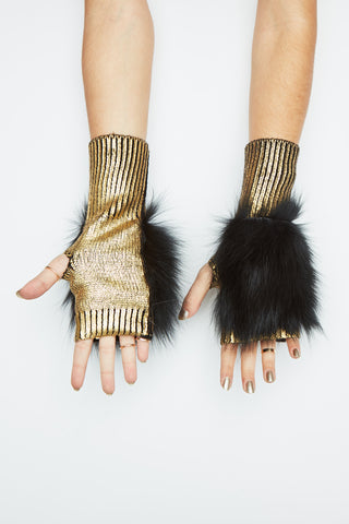 The Meteor Shower Mittens - Gold