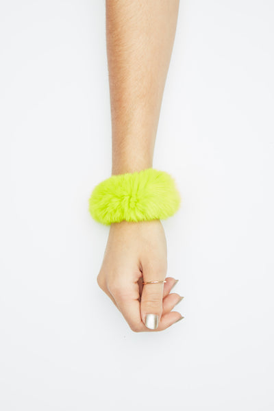 The Planetary Ring Scrunchy - Neon Yellow