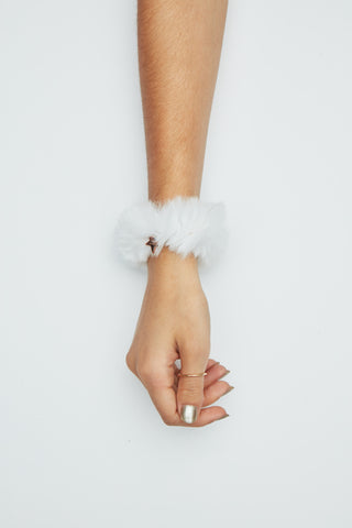 The Starlit Scrunchy - White