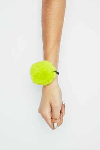 The Horoscope Hair Tie - Neon Yellow