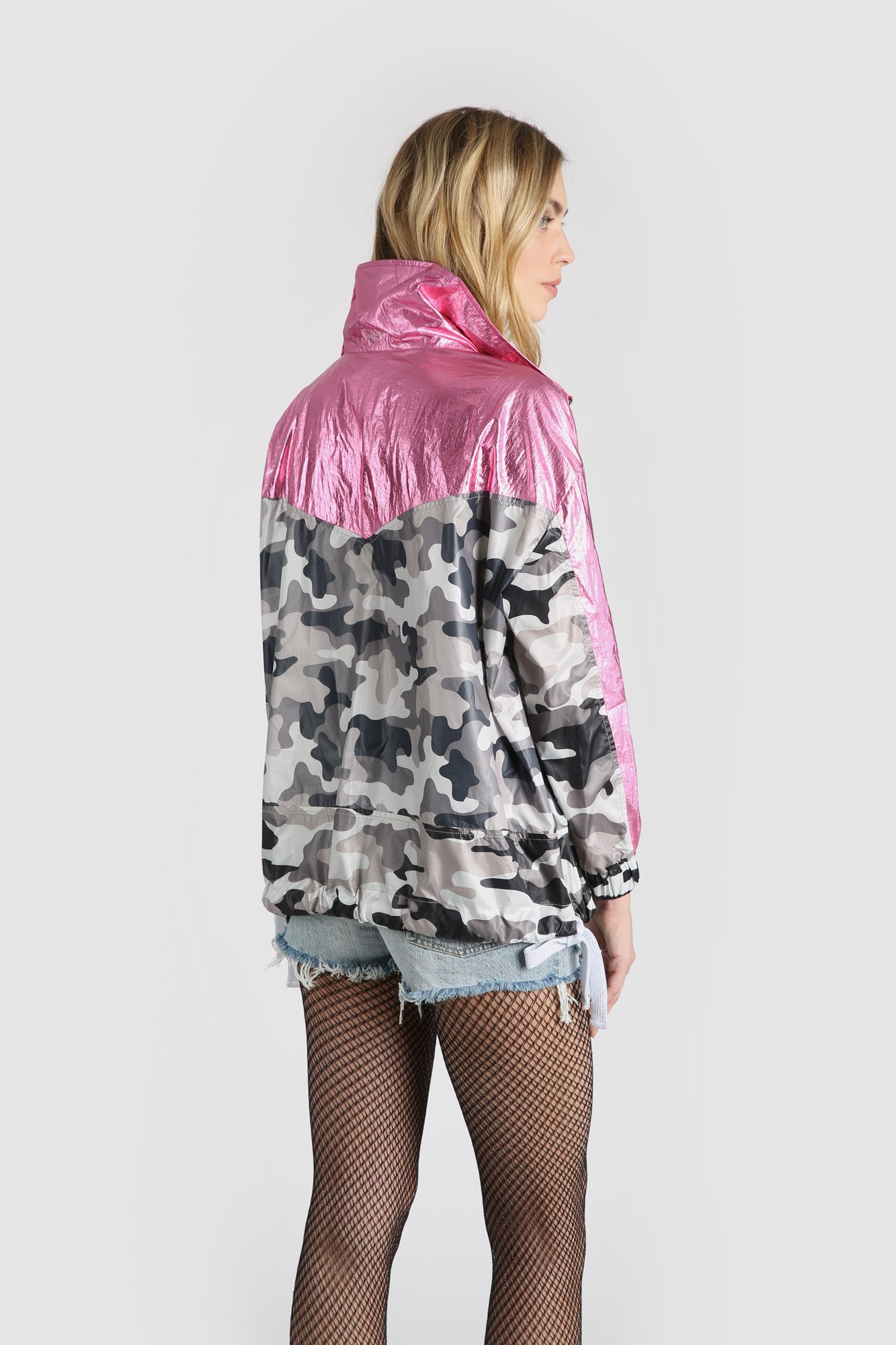 The Camodelic Track Coat - Hot Pink