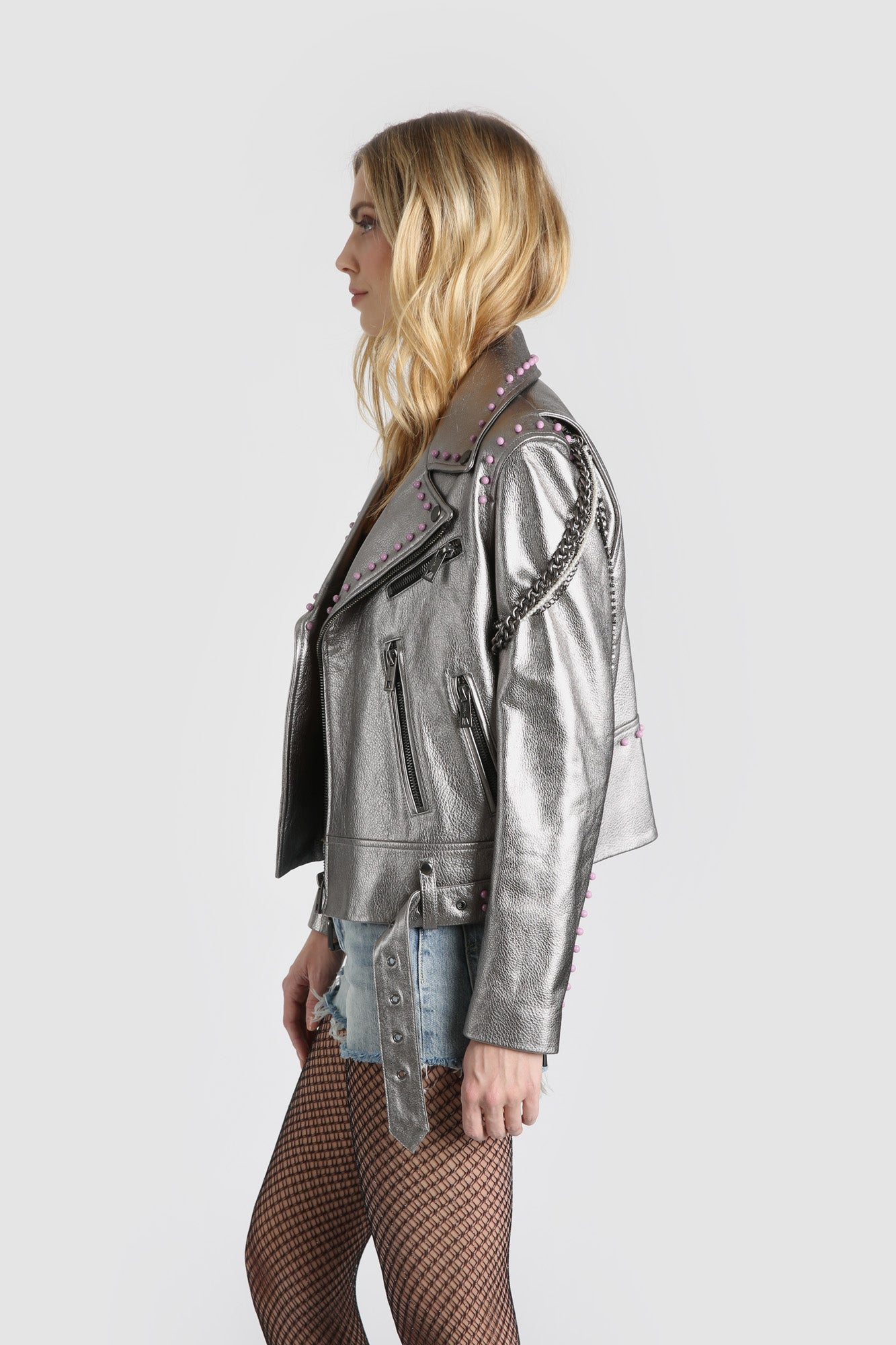 The Gnarly Moto Jacket - Gray