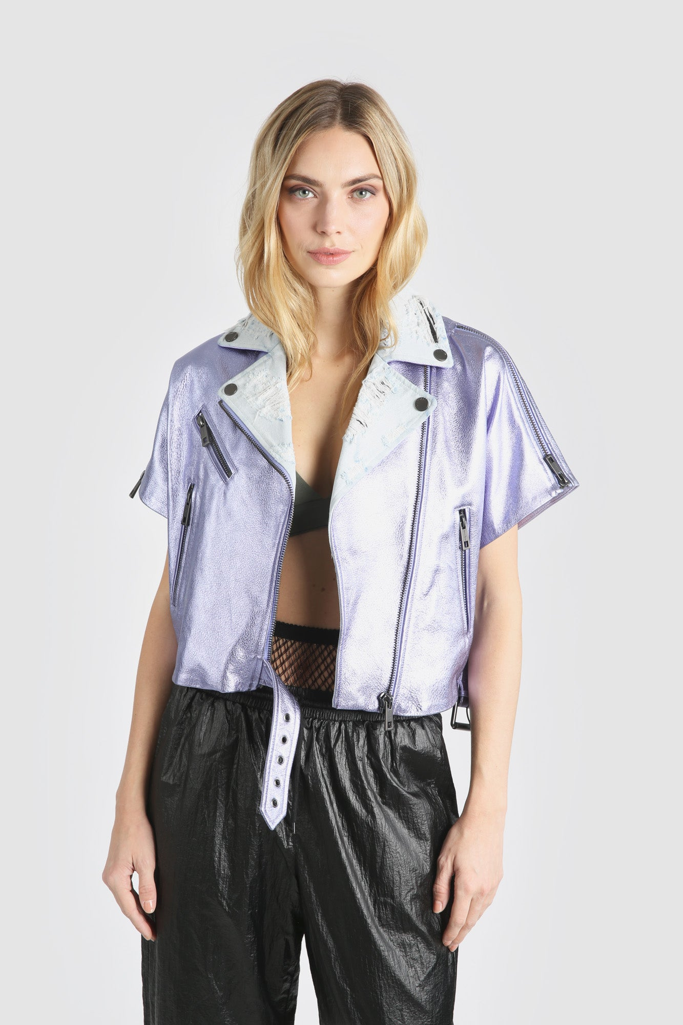 The Mondo Moto Jacket - Lilac