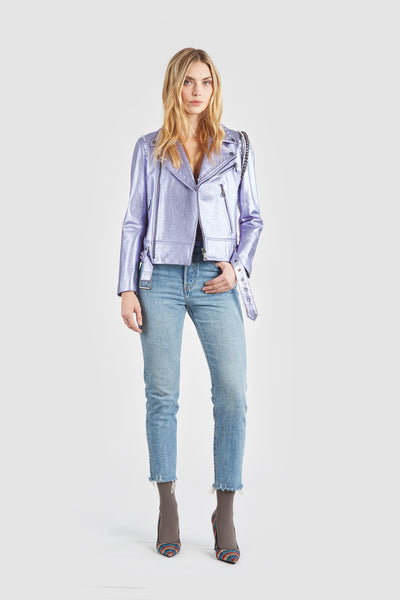 The Gnarly Moto Jacket - Lilac