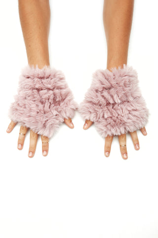 The Faux Fur Mandy Mitten - Blush