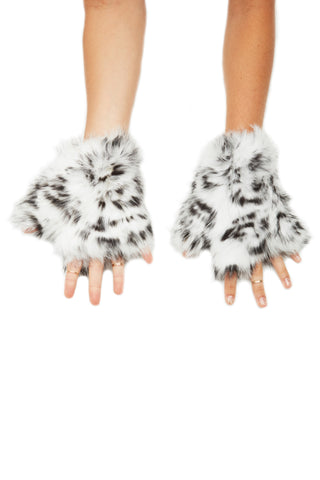 The Animal Printed Mandy Mitten - Black White