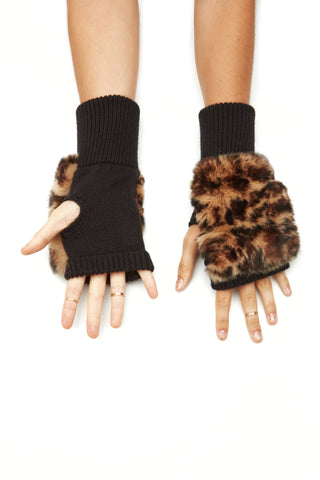 The Varick Mittens - Brown Black