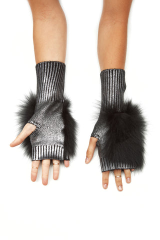 The Bella Mittens - Gunmetal