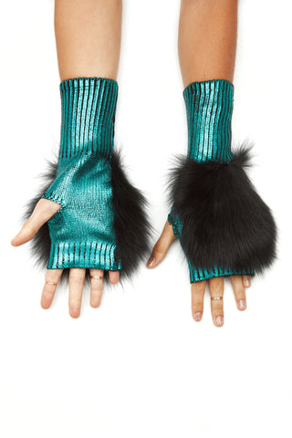 The Bella Mittens - Teal