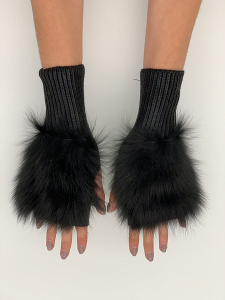 The Meteor Shower Mittens - Black