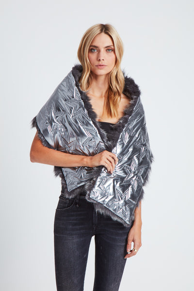 The Flying Saucer Scarf - Silver/Gunmetal