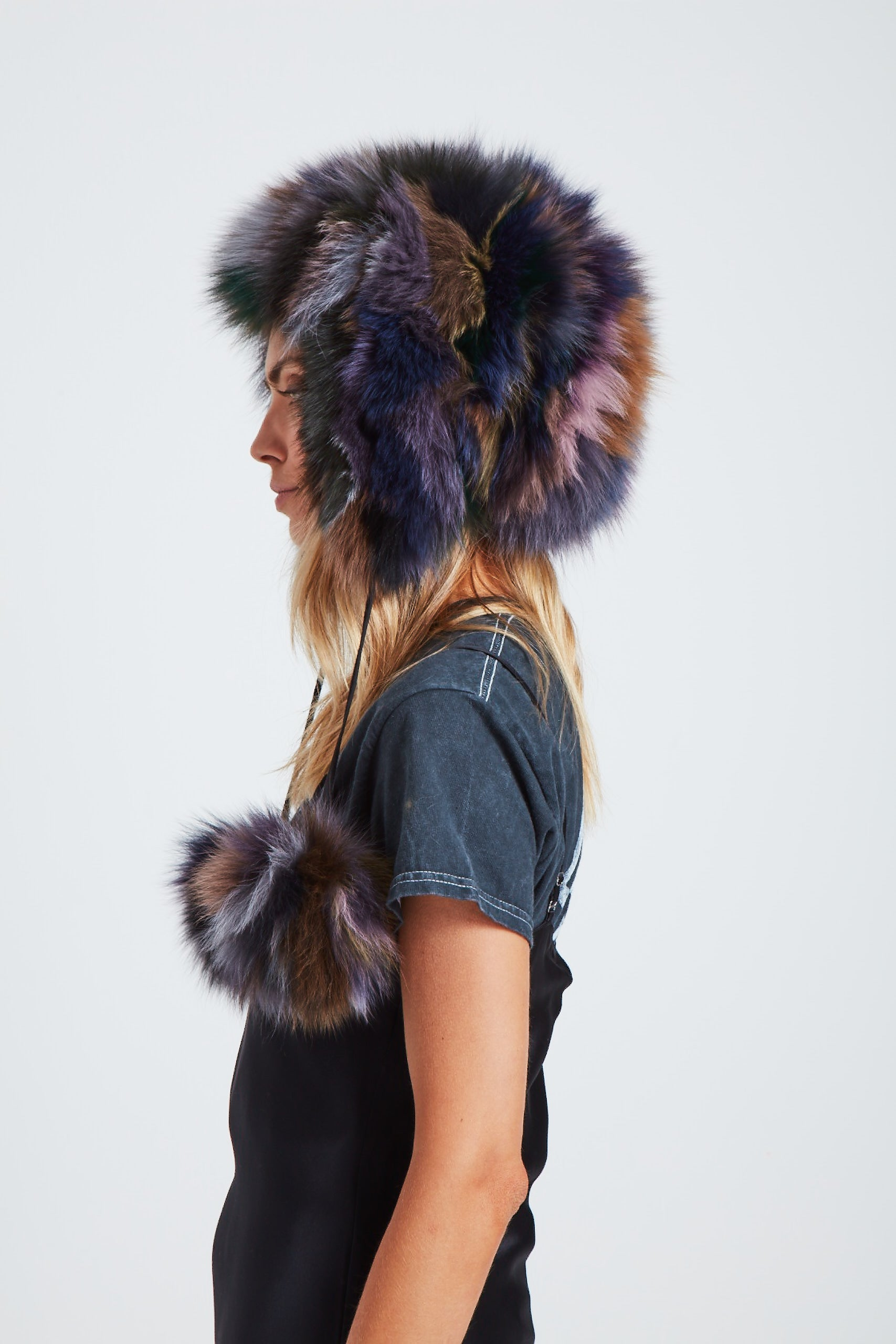 The Time Traveler Trapper Hat - Dark Multi