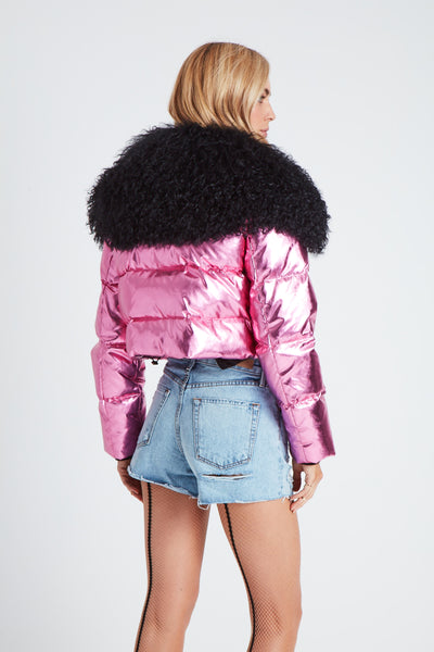 The Outta this World Jacket - Metallic Pink