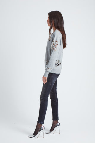 The Cluster Star Sweatshirt  - Light Grey