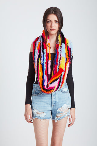 The Radioactive Rainbow Scarf - Bright Multi