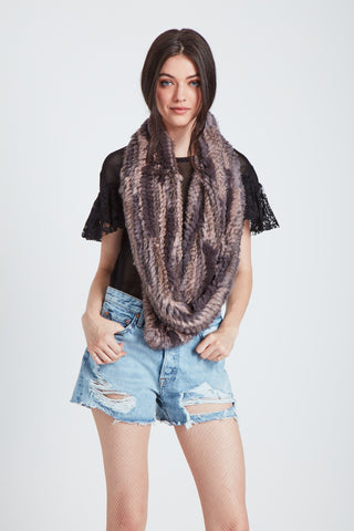 The Interplanetary Infinity Scarf - Rose Smoke Combo
