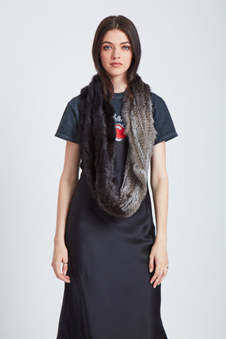 The Apollo Scarf - Black Vapor Ombre