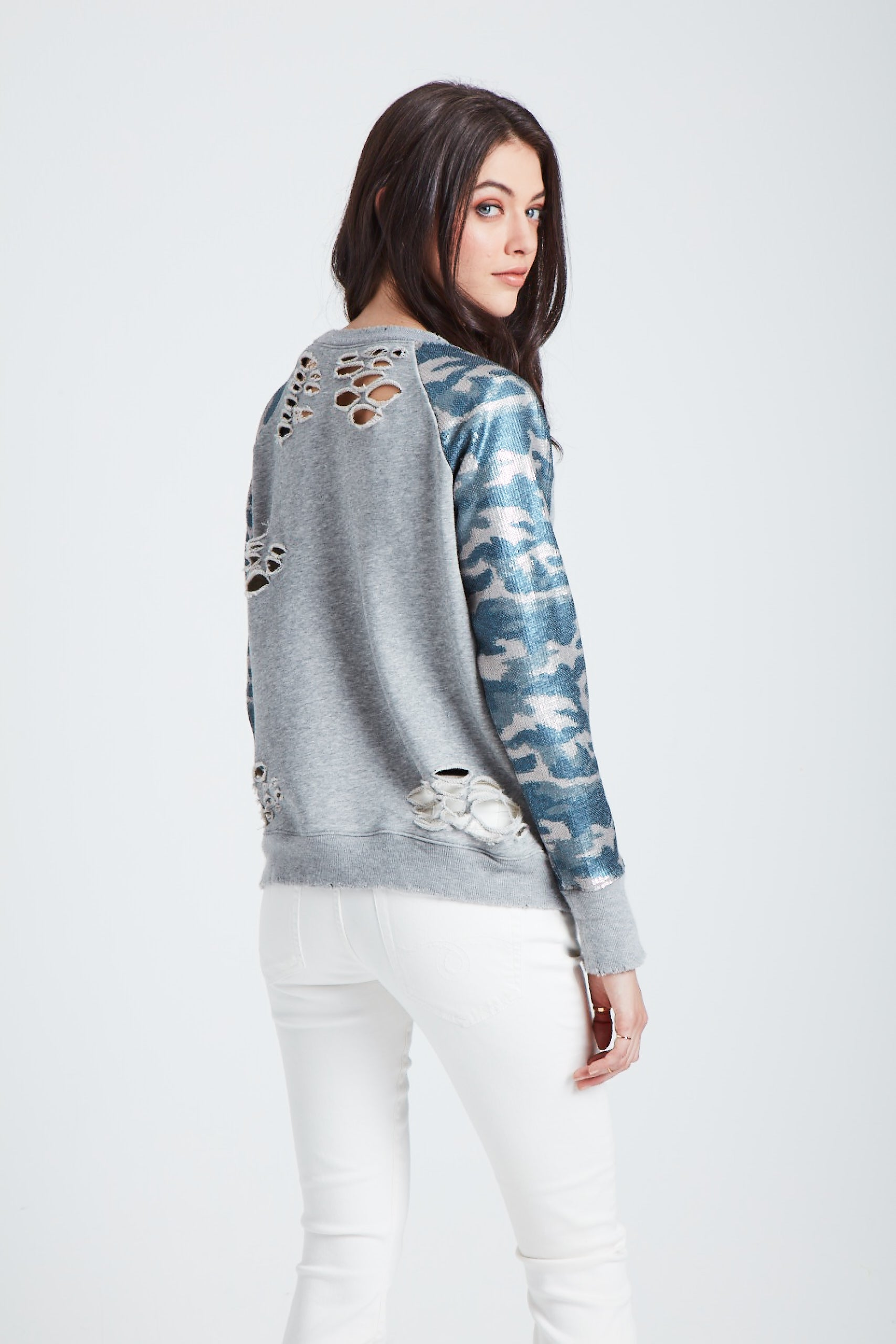 The Galactic Halo Sweatshirt - Camo
