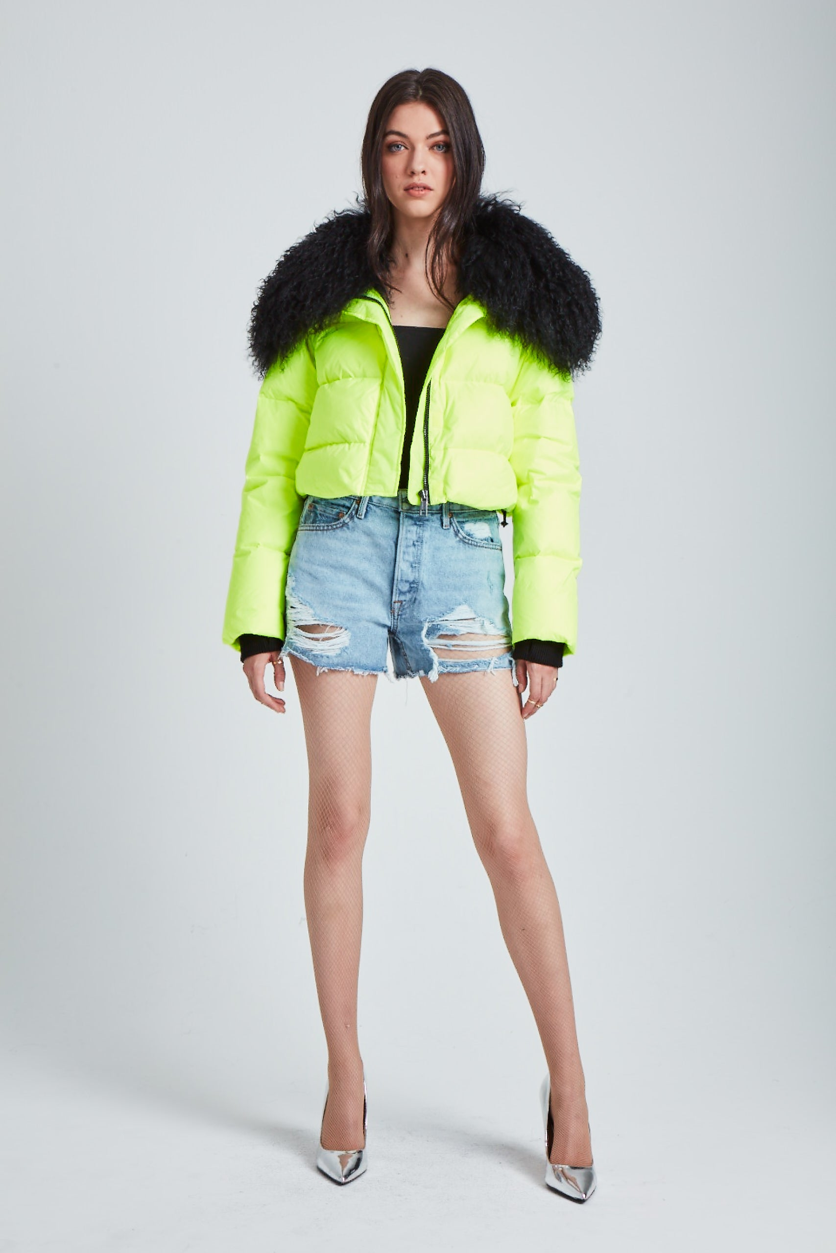 The Outta this World Jacket - Neon Yellow