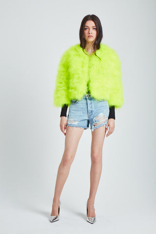 The Fifi Bolero - Neon Yellow