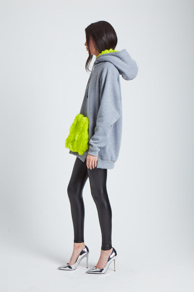 The Halley's Comet Hoodie - Neon Yellow