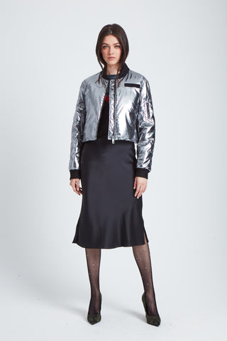 The Spacesuit Bomber Jacket - Gunmetal