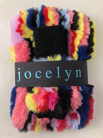 Grateful Dead X Jocelyn Collab - Faux Fur Rainbow Cowl + Mitten Gift Set