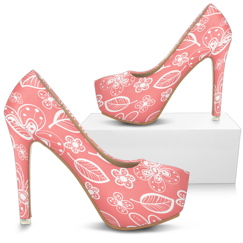 Simply Flowers High Heels The Ginger Daisy Co