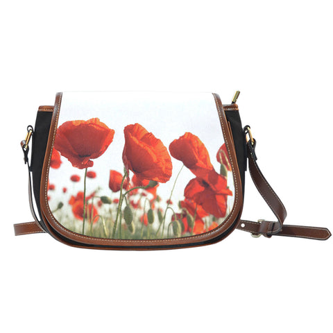 Poppy Flower Saddle Bag