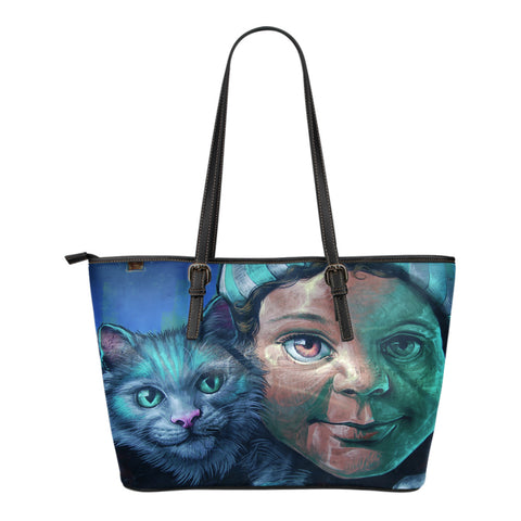 Maisie's Cat Small Leather Tote Bag
