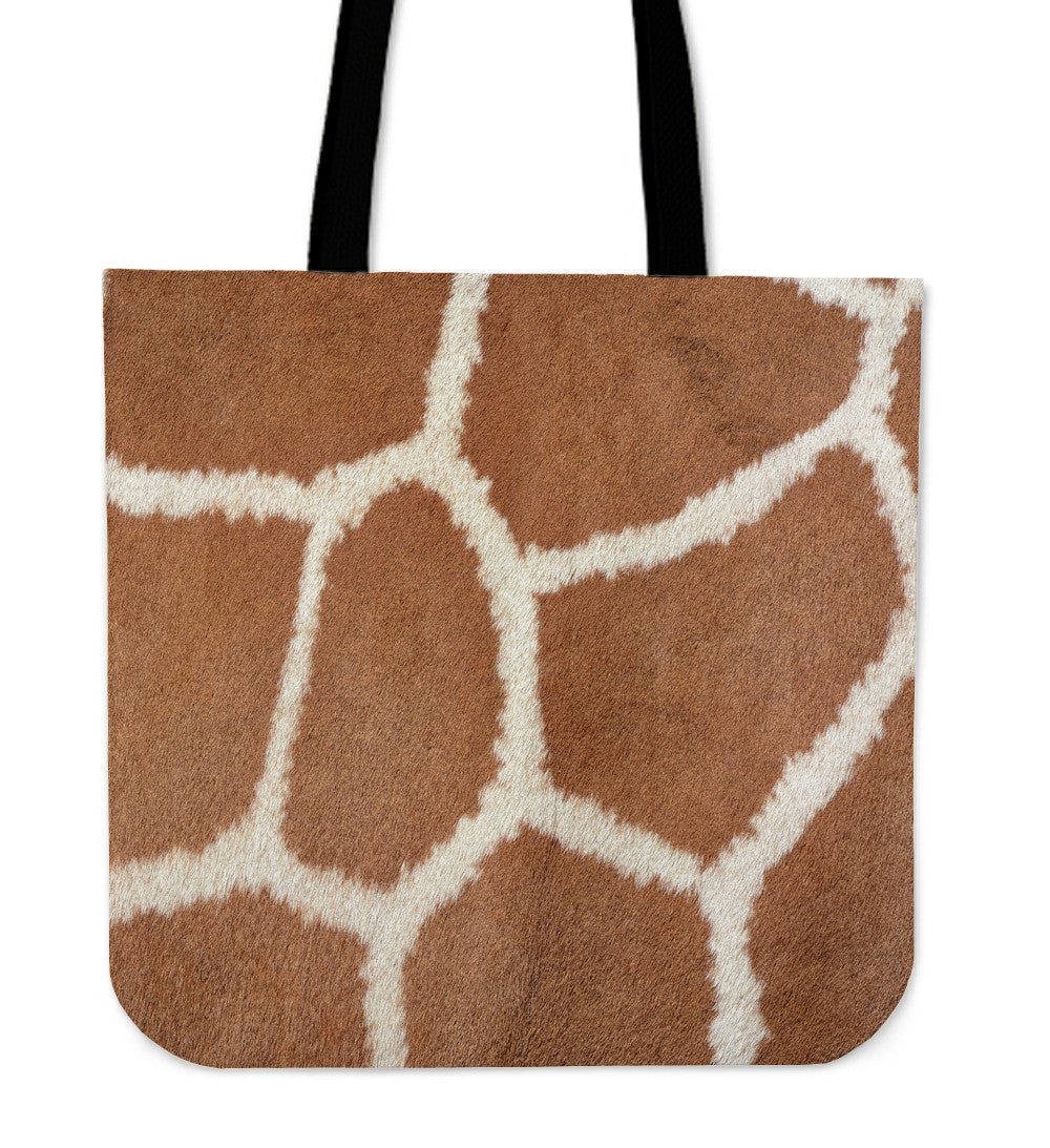 Giraffe Print Cloth Tote Bag