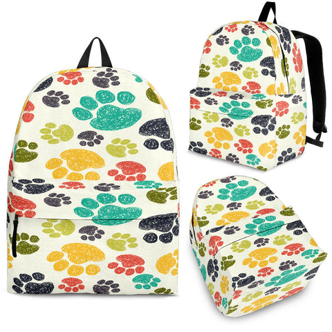 Colorful Paws Backpack