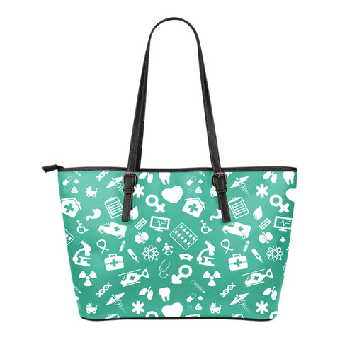 Nurse Small Leather Tote Bag