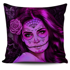 Tattoo Calavera Girl Pillow Cover - Collection 2
