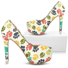 Colorful Paws High Heels