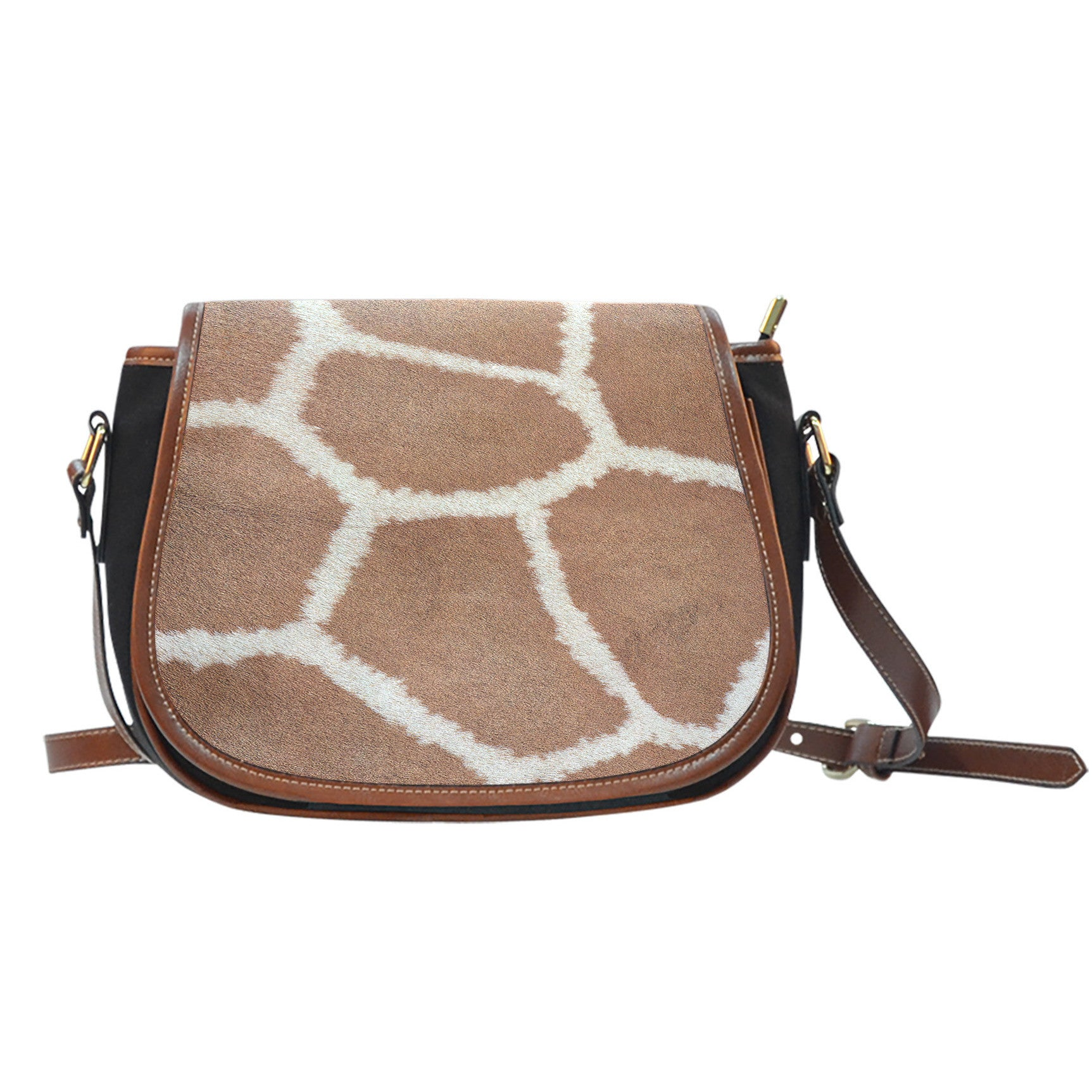 Giraffe Print Saddle Bag