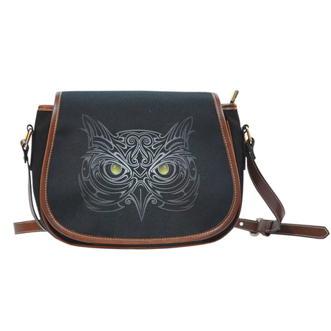 Black Owl Saddle Bag