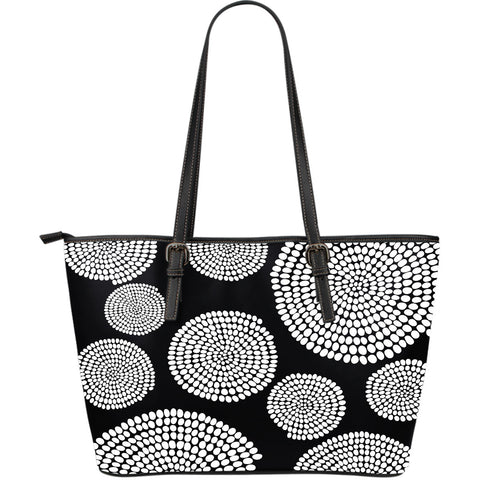 African Swirl Large Leather Tote Bag