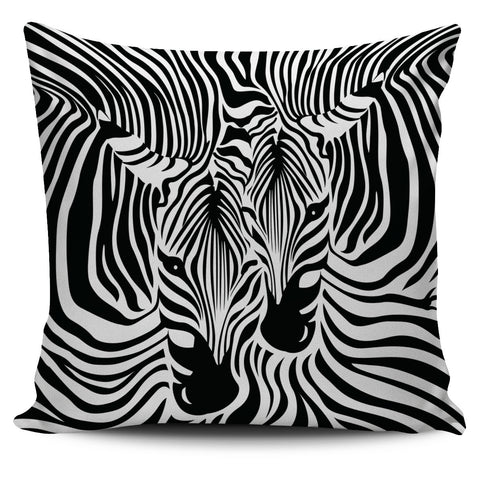 Zebra Couple Pillow Cover